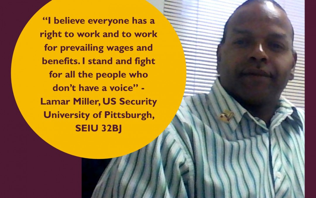 Lamar Johnson, Security Guard and SEIU 32BJ member